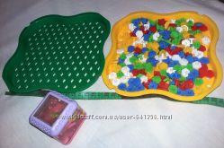 Детская настольная игра мозаика, Украина Тигрес и кубик Fisher Price