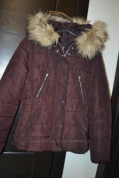 Теплая деми куртка ф. H&M р. EUR 36 UK 8, XS-S в отличном состоянии