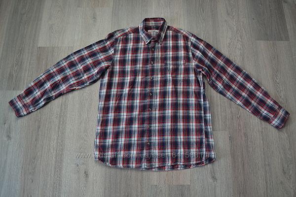 Теплая рубашка ф. Dressman р. М-L в новом состоянии хлопок