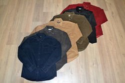 Теплые вельветовые рубашки от С до XXL новые хлопок