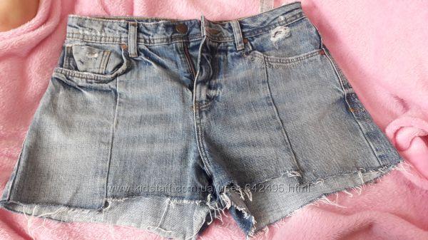 Продам джинсовые шорты Zara, бу