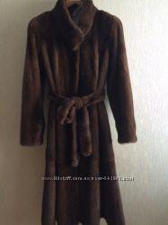 Шикарная норковая шуба с пышной юбкой , пр-во Греция , размер 44-46