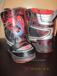 Сапоги Marvel Spider Man с led подошвой 26 р-р