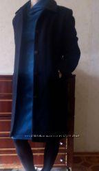 Черное пальто 75  шерсти
