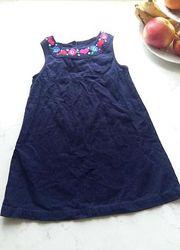 Милое платье из тонкого микровельвета Laura Ashley на 3-4 года