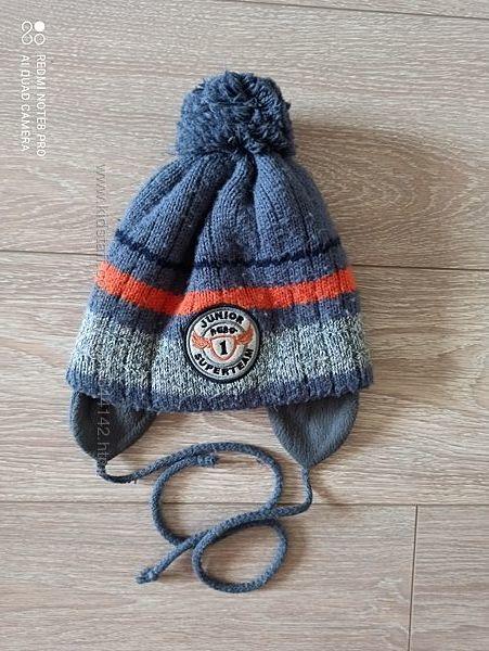 Зимняя  детская шапка на флисе Аgbo Польша на 4-6 лет