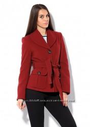 Шерстяное пальто t. s. sity 78шерсть, цвет терракотовый