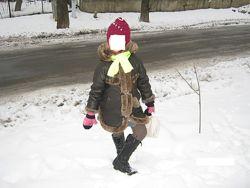 Дубленка пальто зимнее