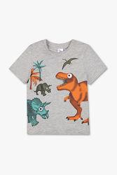 Яркая футболка C&A динозавры размер 134