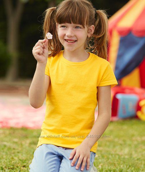 Детская футболка для девочек от 3-15 лет Fruit of the loom