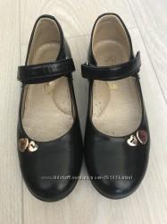 Туфли для девочки в школу, кожаные , фирмы Ирбис, р 31