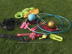 Мяч, насос, ленты, палочки, барабаны, скакалки, обручи фирмы sasaki
