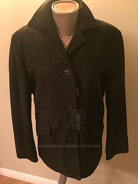 Новая утепленная кожанаянубук куртка италия