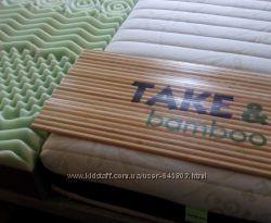 Матрас Take&Go Bamboo беспружинный плюс подарок
