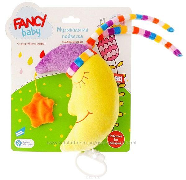 Развивающая игрушка музыкальная мягкая подвеска Месяц. Fancy Baby PEM0&92M