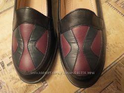 Мягкие удобные кожаные туфли