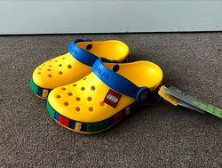 Crocs Kid&acutes Crocband Lego Clog Yellow Оригинал, кроксы детские