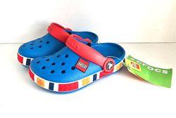 Crocs Kid&acutes Crocband Lego Clog Blue Оригинал, кроксы детские