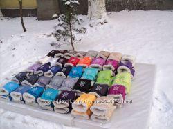 Муфты рукавички Снежинка 49 цветов