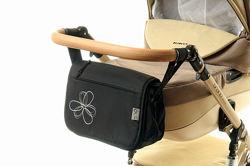 Сумка для коляски  Ok style  Черная с цветком