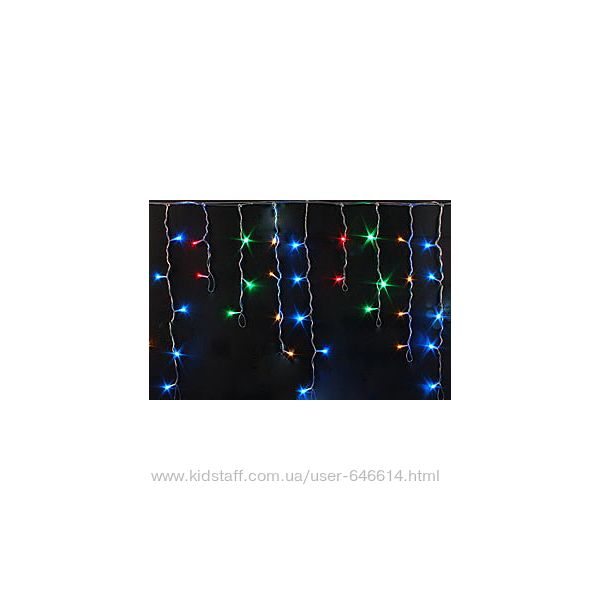 Гирлянда светодиодная Бахрома 200 лед мульти 5м 45 см