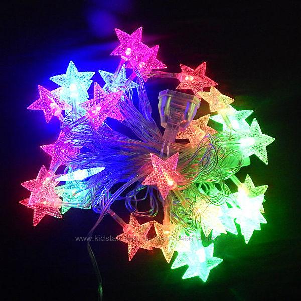Новогодняя гирлянда звезда 28 LED