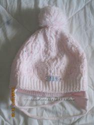Шапочка зима для девочки 1-3 года.