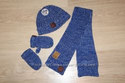 Комплект шапка, шарф, варежки Next на 3-6 лет