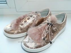 Туфли мокасины 33, 34 разм мех натуральный