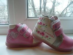 Нежные деми ботиночки с 23 по 26 разм две модели