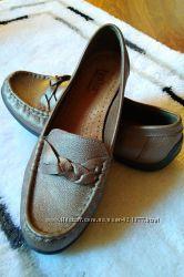 Туфли мокасины Hotter Comfort cocept натуральная кожа бронзового цвета
