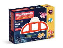 Магнитный конструктор Magformers Мой первый красный автомобиль, 14 эл