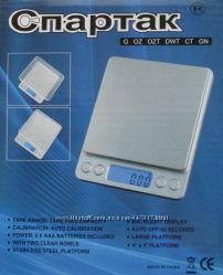 Профессиональные ювелирные весы до 3 кг шаг 0, 1, 2чаши