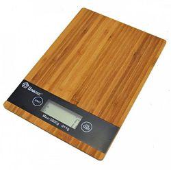 Кухонные сенсорные весы Domotec Ms-a до 5кг платформа из дерева