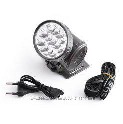 Налобный аккумуляторный фонарь Yj-1898 на 13 светодиодов