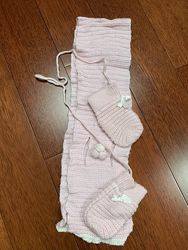 Комплект My first chicco шарф и рукавички 18 мес - 2 года