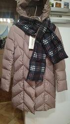 Пуховик с шарфом для девочки Snowimage