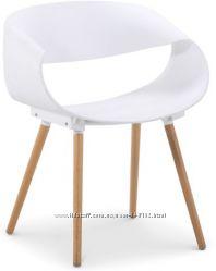 Кресло Стул Берта белый чёрный желтый пластик