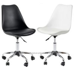 офисный стул Астер на колесиках белый черный