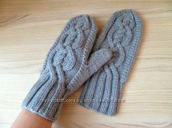 вязаные варежки для всей семьи 350 грн варежки и перчатки женские