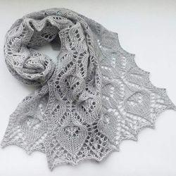Вязаный ажурный женский  шарфик