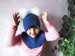 Шапка-шлем из 100 мериносовой шерсти