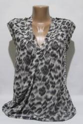 Блуза рубашка на запах в актуальный принт Oasis, р. m