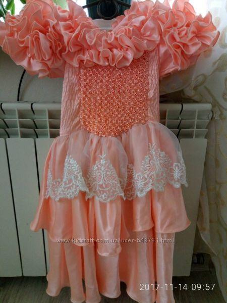 Оригинальное бальное платье
