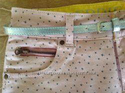 Супер юбочка джинсовая розовая с пояском, Eddie&Stine