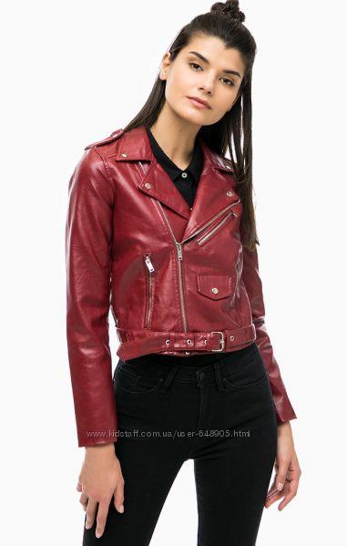 Бордовая куртка косуха кожзам Alkott