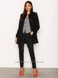 Легкое черное базовое пальто шерсть Vero Moda