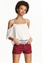 Короткие джинсовые шорты H&M