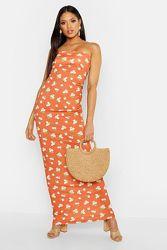 Платье бандо макси с цветочным принтом Boohoo