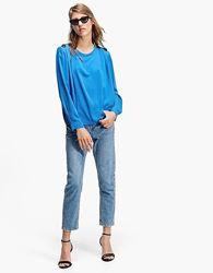 Голубая блуза кофточка Stradivarius